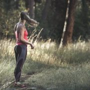 jogger in forest