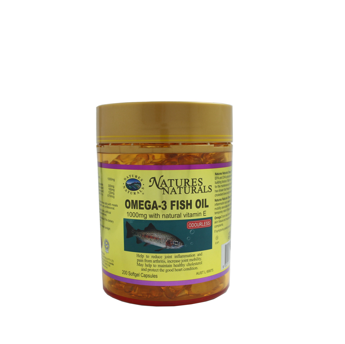 Natures naturals golden odourless omega 3 fish oil 1000mg for Omega 3 fish oil weight loss